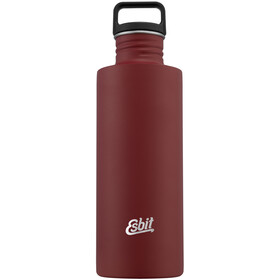 Esbit Sculptor Drinking Bottle 1l, burgundy red
